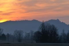 levée du soleil sur Penne vu de Rogé